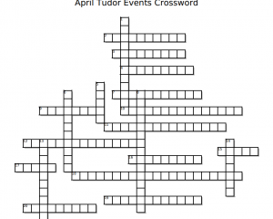 April Tudor Events Crossword