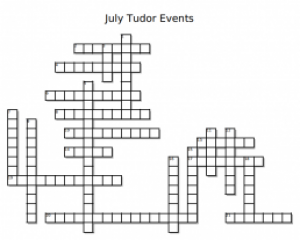 July Tudor Events Crossword