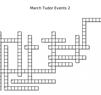 March Tudor Events Crossword 2