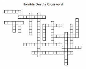Horrible Deaths Crossword