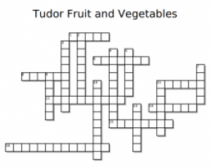 Tudor Fruit and Vegetables Crossword Puz