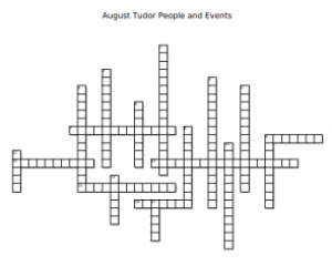 August Tudor People and Events Crossword