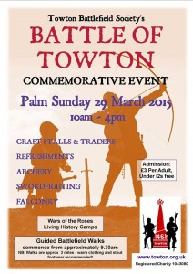 Battle of Towton event March 2015