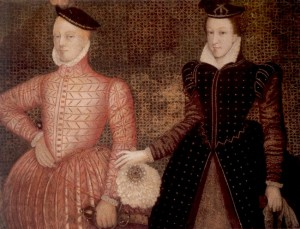 Mary and Lord Darnley c.1565, from Hardwick Hall