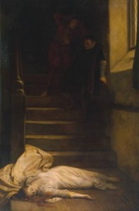 The Death of Amy Robsart, a Victorian painting by William Frederick Yeames