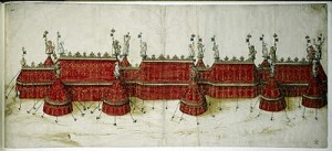 Tent designs for Field of Cloth of Gold
