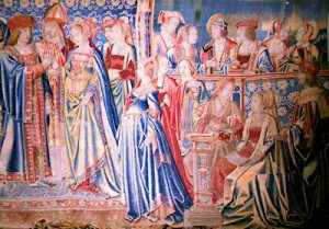 Tapestry depicting the marriage of Mary Tudor and Louis XII, photo by Tim Ridgway