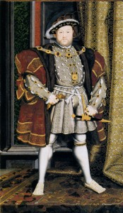 Henry VIII after Holbein - based on the Whitehall Mural of 1536-7.