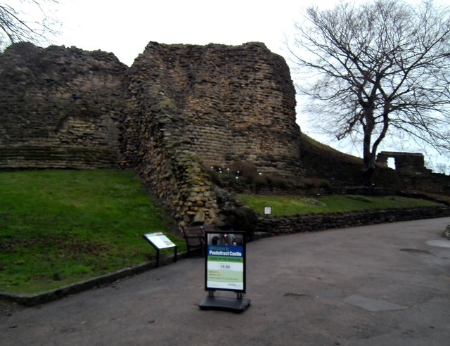 Ruins of Pontefract Castle today