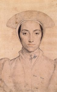 Woman thought to be Amalia of Cleves by Holbein
